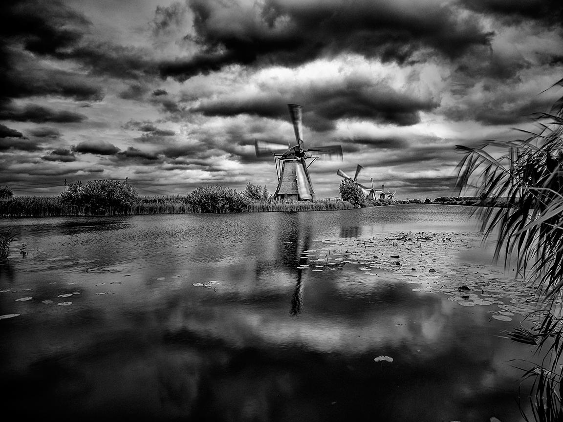 los molinos en Holanda