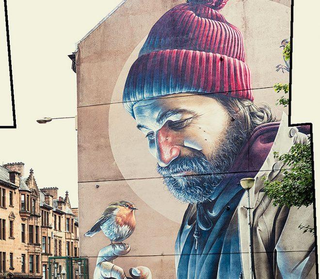 las paredes en Glasgow